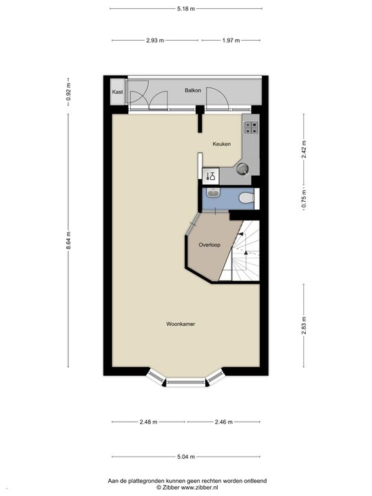 Tonystraat 11, Den Haag floorplan-1