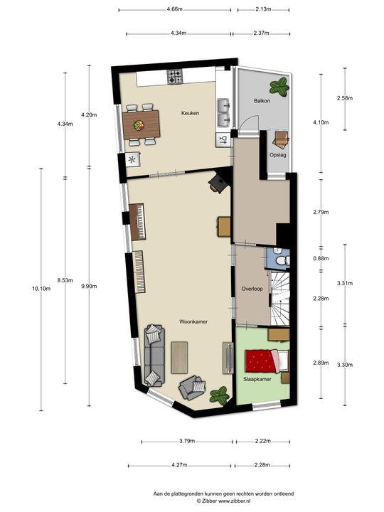 De Reaumurstraat 81, Den Haag floorplan-2