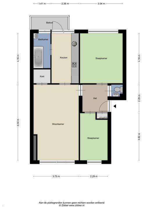 Wolweversgaarde 807, Den Haag floorplan-0