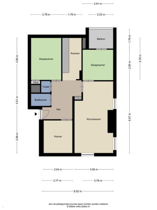 Beresteinlaan 38 C, Den Haag floorplan-0