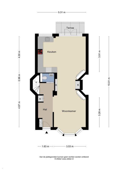 Koningin Julianalaan 25, Voorburg floorplan-1