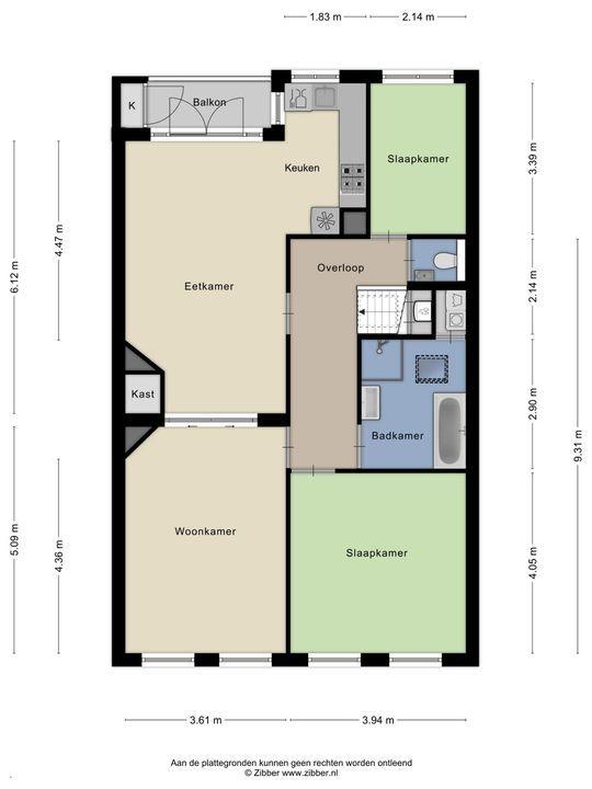 Loosduinsekade 249, Den Haag floorplan-0