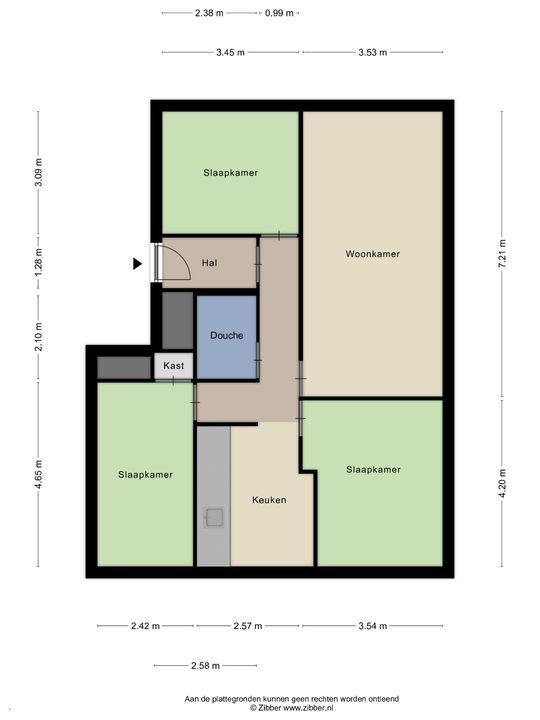 Newtonstraat 521, Den Haag floorplan-0