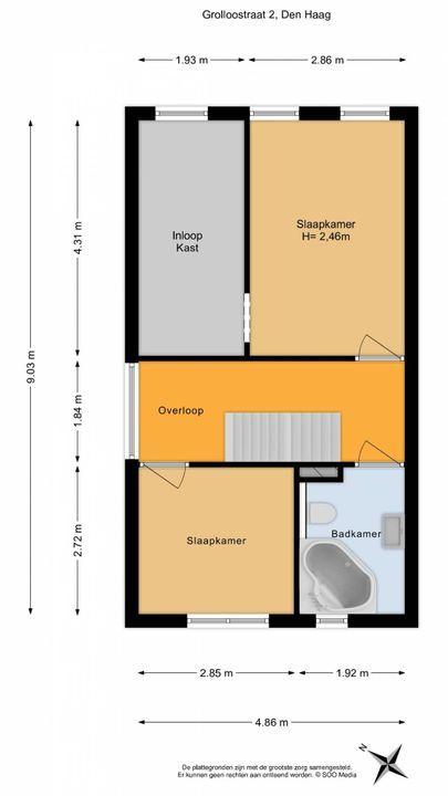 Grolloostraat 2, Den Haag floorplan-1