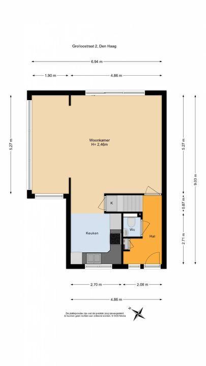 Grolloostraat 2, Den Haag floorplan-0
