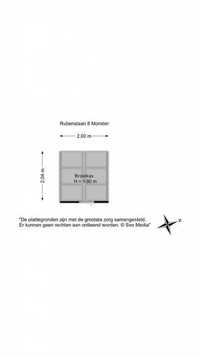 Rubenslaan 8, Monster floorplan-2