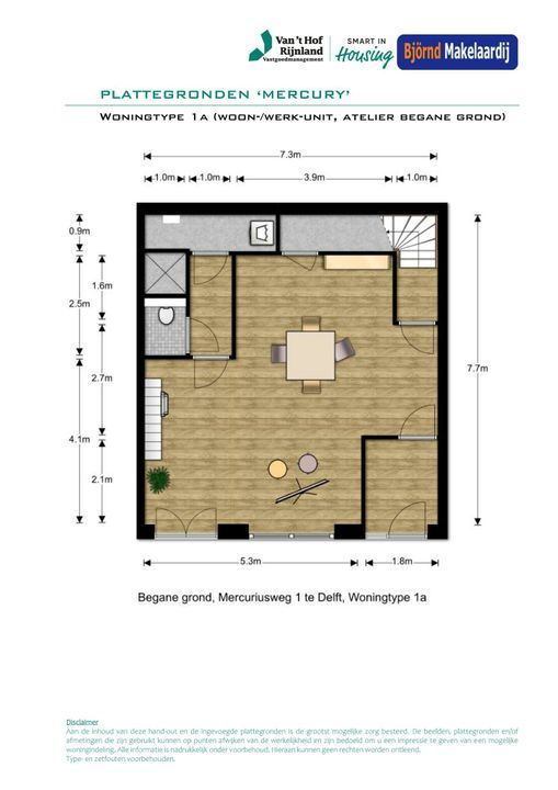 Bouwnummer 5 ong, Delft plattegrond-0
