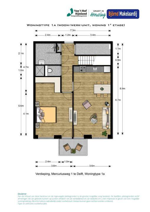 Bouwnummer 5 ong, Delft plattegrond-1