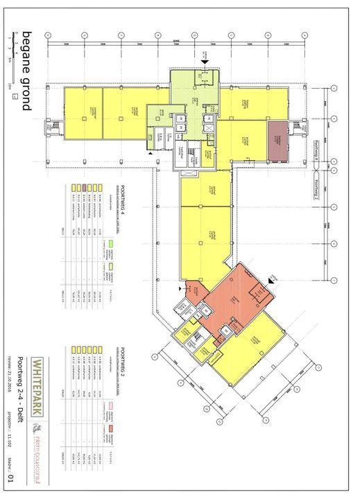 Poortweg 2 4,6,8, Delft plattegrond-1