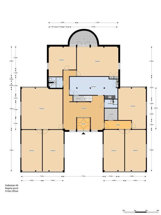 Kalfjeslaan 66 ., Delft plattegrond-0