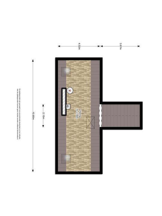 Buitenwatersloot 325 C, Delft plattegrond-2