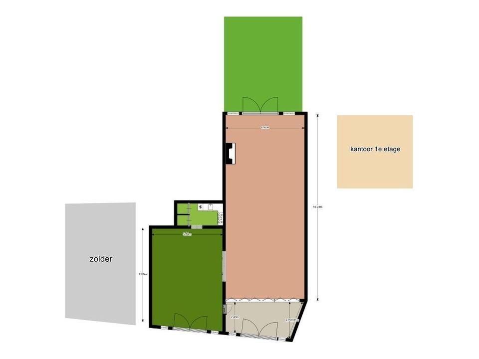 Nieuwe Plantage 54, Delft plattegrond-0
