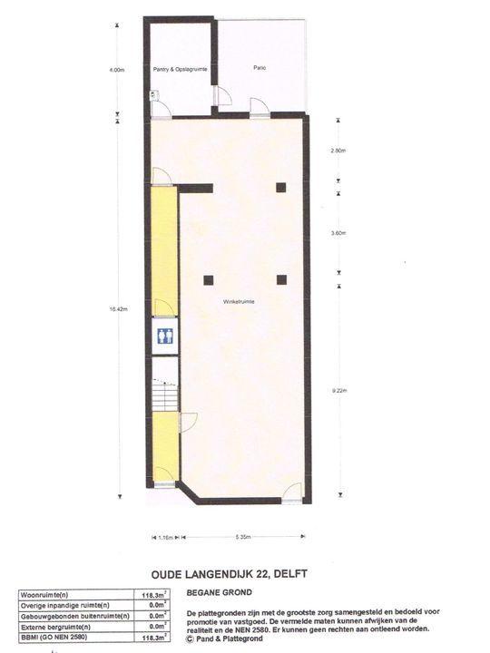 Oude Langendijk 22, Delft plattegrond-0