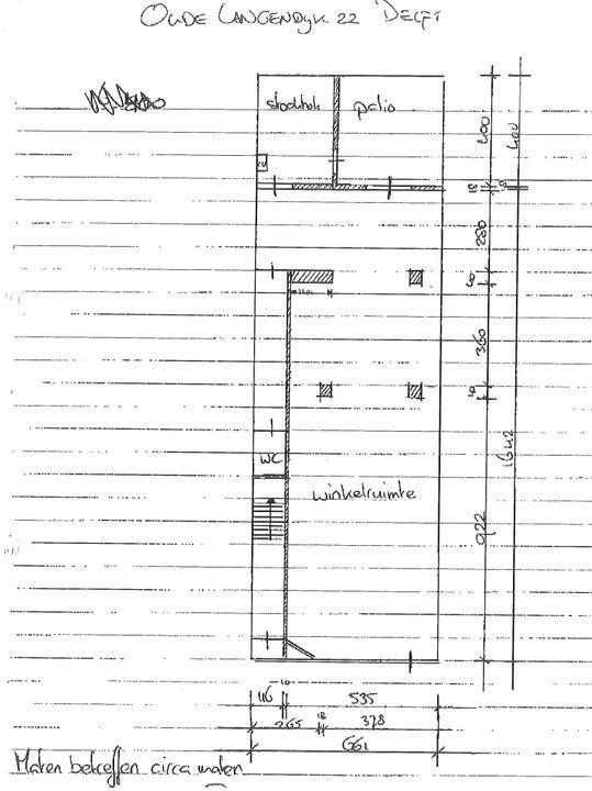 Oude Langendijk 22, Delft plattegrond-1