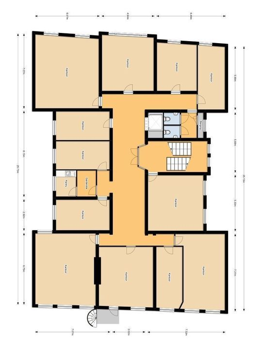 Barbarasteeg 3, Delft plattegrond-0