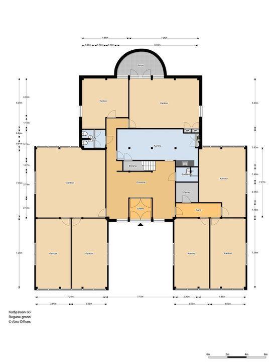 Kalfjeslaan 66, Delft plattegrond-0