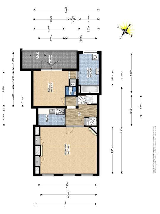 Voldersgracht 22, Delft plattegrond-1