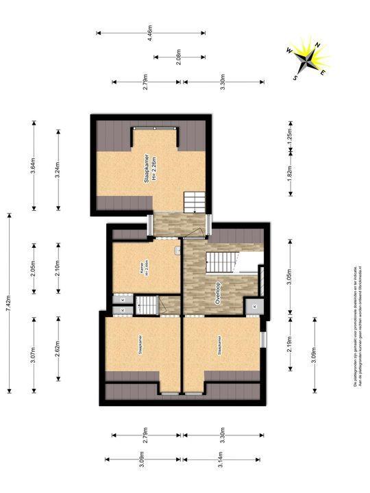 Voldersgracht 22, Delft plattegrond-2