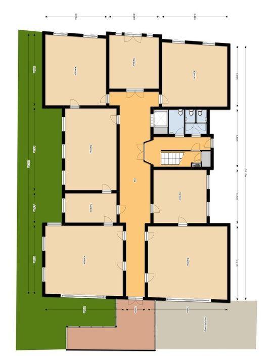 Westvest 41, Delft plattegrond-0