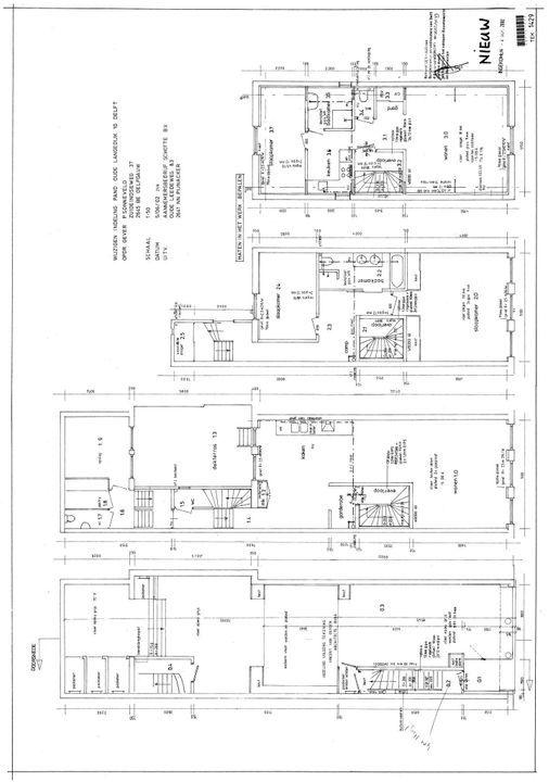 Oude Langendijk 10, Delft plattegrond-1