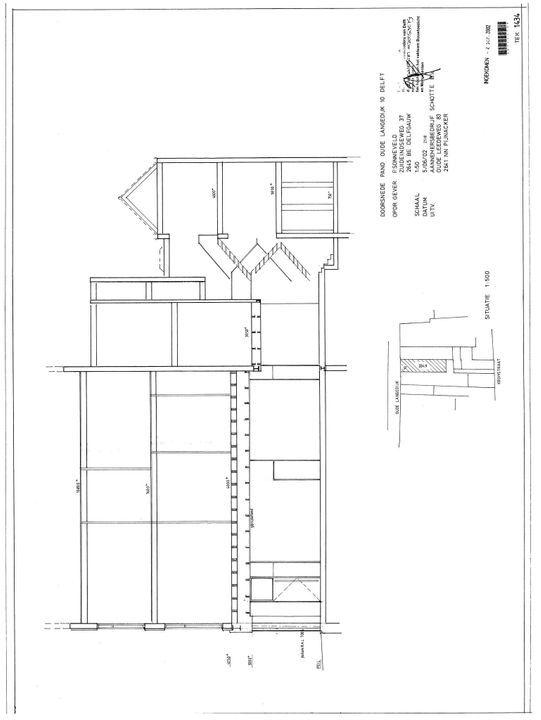 Oude Langendijk 10, Delft plattegrond-2