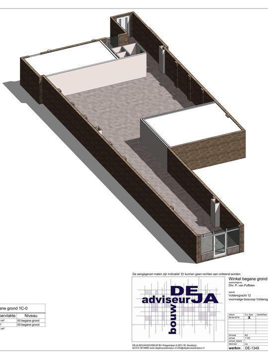 Voldersgracht 12, Delft plattegrond-0