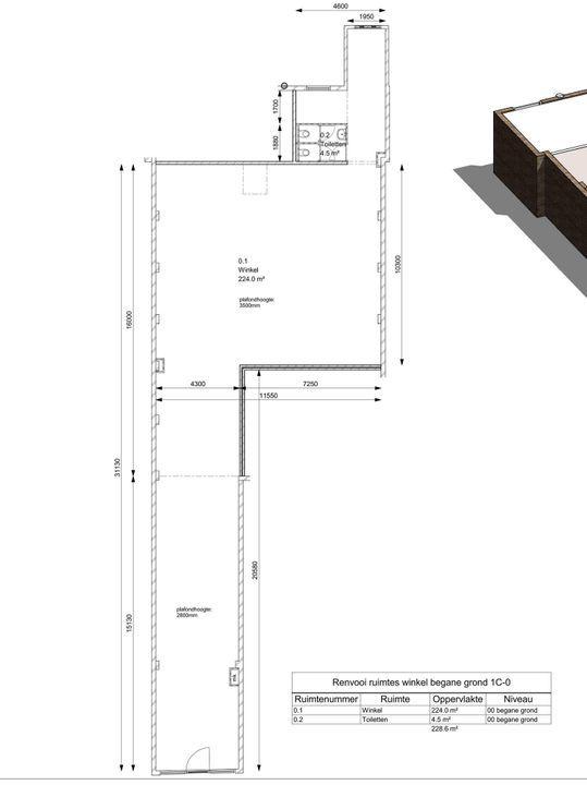 Voldersgracht 12, Delft plattegrond-1
