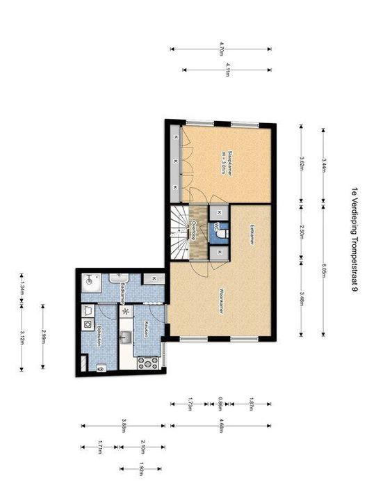 Vrouwenregt 5, Delft plattegrond-4