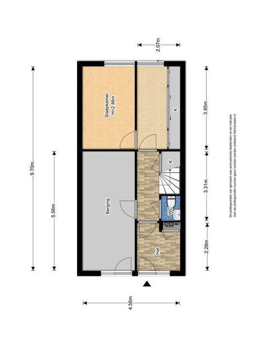 Zuidpoldersingel 63, Delfgauw plattegrond-1