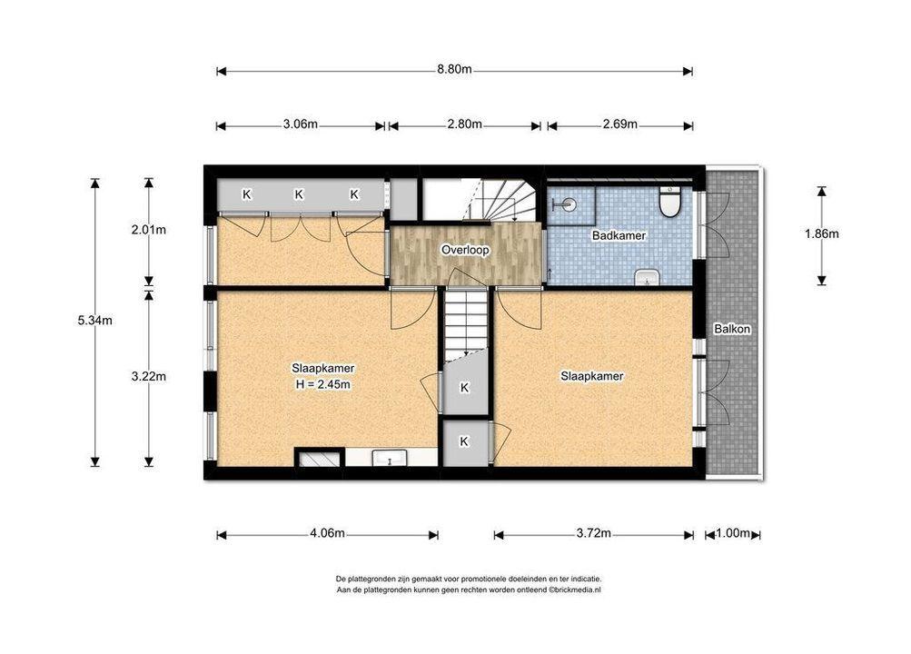Laan van Overvest 12, Delft plattegrond-2