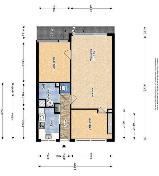 Bosboom-Toussaintplein 100, Delft plattegrond-0