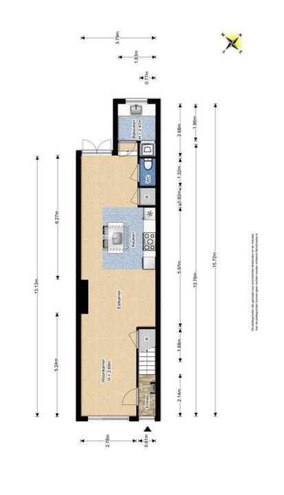 Oostblok 14, Delft plattegrond-0
