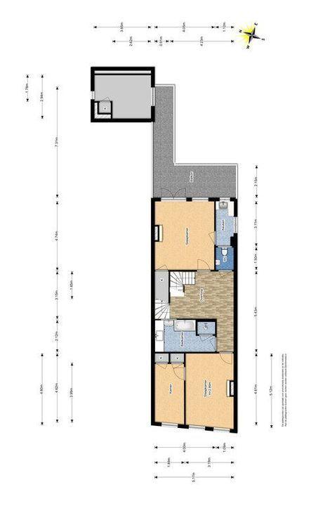 Noordeinde 16, Delft plattegrond-1