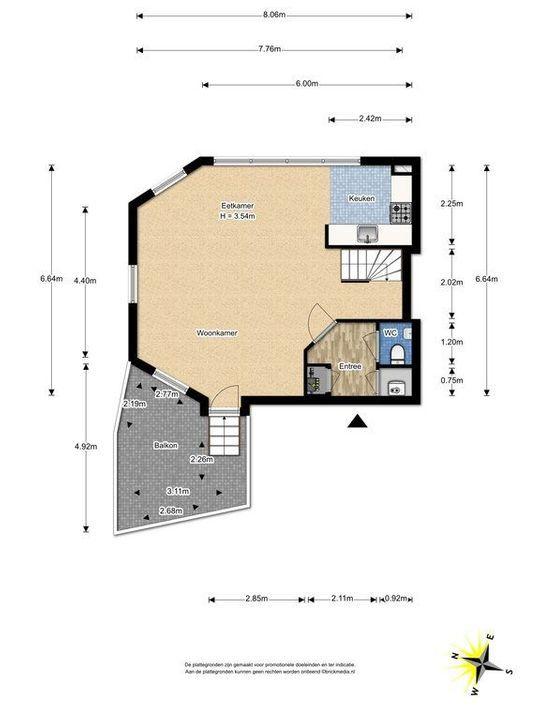 Simonsstraat 103 E, Delft plattegrond-0