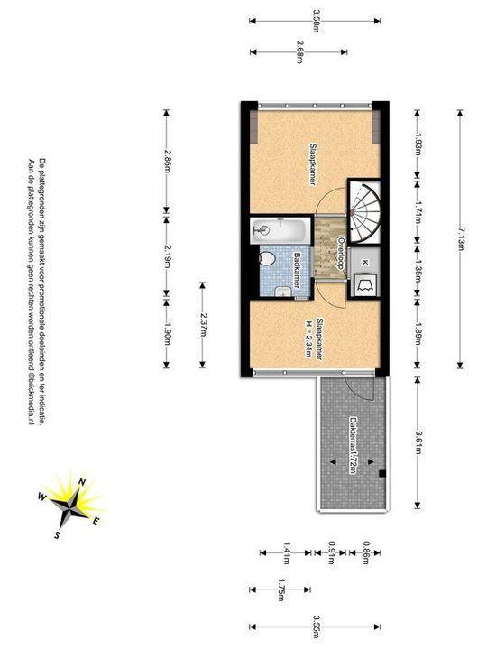 Laan van Overvest 37, Delft plattegrond-1