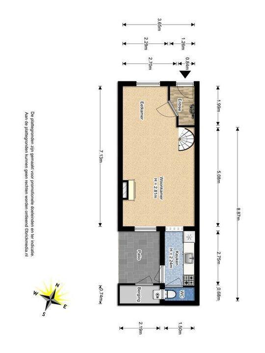 Laan van Overvest 37, Delft plattegrond-0