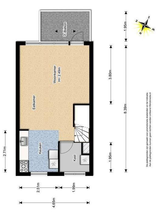 Gandhilaan 20, Delft plattegrond-1