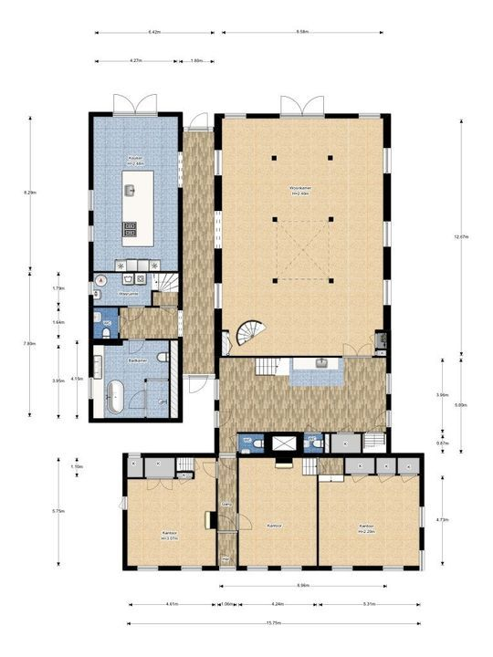 Haantje 11, Rijswijk plattegrond-1