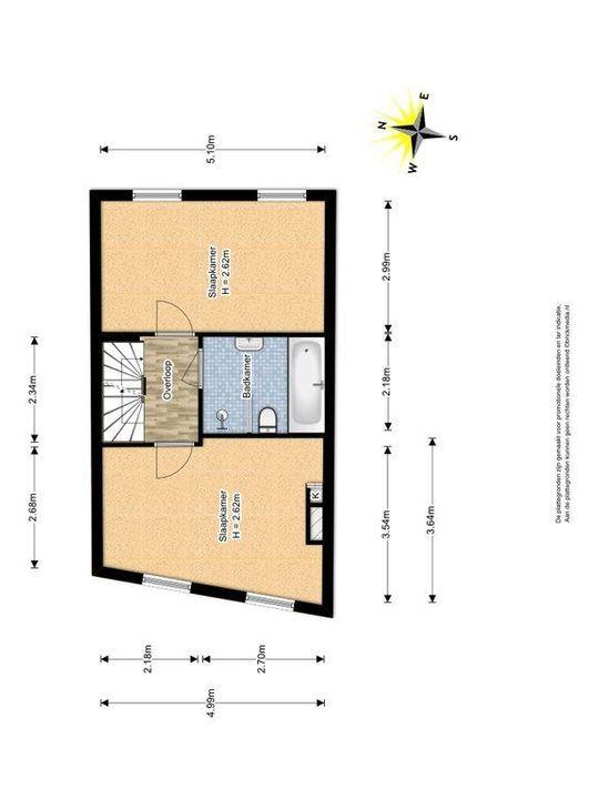Achterom 147, Delft plattegrond-1