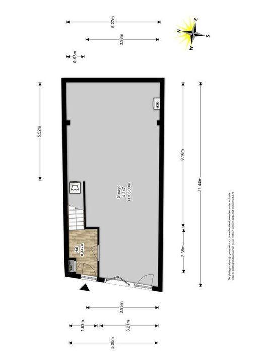 Achterom 147, Delft plattegrond-2