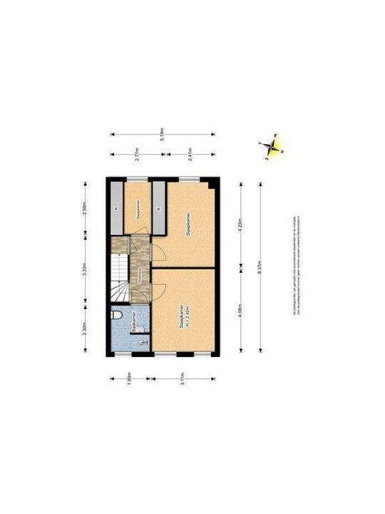 Van Barenstraat 16, Delft plattegrond-1