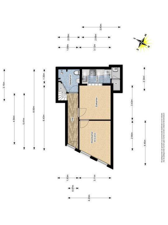 Achterom 34, Delft plattegrond-0
