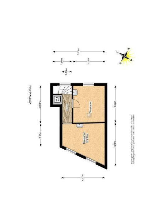 Achterom 34, Delft plattegrond-1
