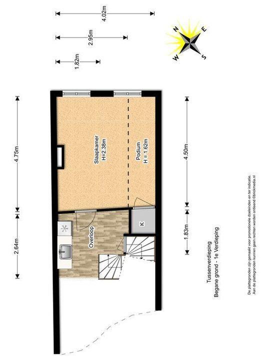 Noordeinde 18, Delft plattegrond-1