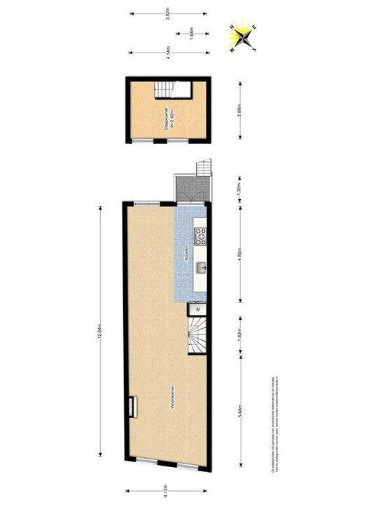 Noordeinde 18, Delft plattegrond-2