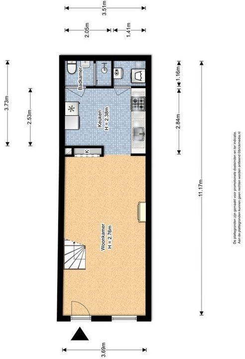 Anna Beijerstraat 14, Delft plattegrond-0