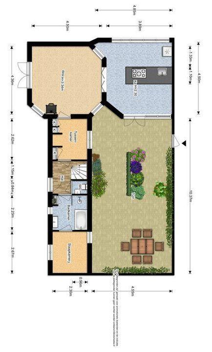 Laan van Overvest 24, Delft plattegrond-1
