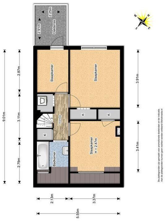 Ternatestraat 131, Delft plattegrond-2