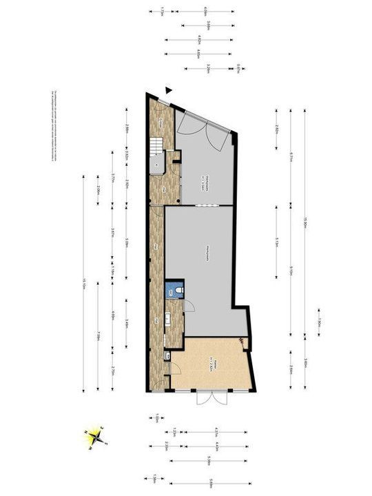 Achterom 38, Delft plattegrond-1