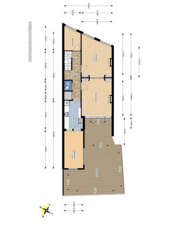 Achterom 38, Delft plattegrond-2